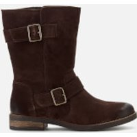 Clarks Demi Flow Biker Boots - Dark Brown