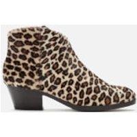 Clarks Mila Myth Pony Heeled Ankle Boots - Leopard Print