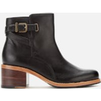 Clarks Clarkdale Jax Leather Heeled Ankle Boots - Black