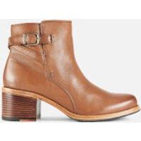 Clarks Women's Clarkdale Jax Leather Heeled Ankle Boots - Dark Tan - UK 3