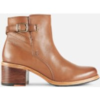 Clarks Women's Clarkdale Jax Leather Heeled Ankle Boots - Dark Tan - UK 6