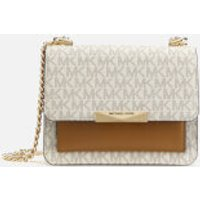 MICHAEL MICHAEL KORS Women's Jade Xtra Small Gusset Cross Body Bag - Vanilla/Acorn