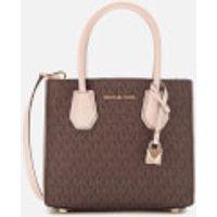 Michael Michael Kors Mercer Medium Acordian Messenger Bag - Brown/soft Pink