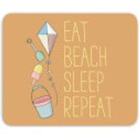 Eat Beach Sleep Repeat Mouse Mat - Beach Gifts