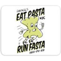 EAT PASTA RUN FASTA Mouse Mat