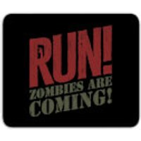 RUN! Zombies Are Coming! Mouse Mat - Zombies Gifts