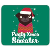 Pugly Xmas Sweater Mouse Mat - Sweater Gifts