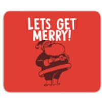 Lets Be Merry Mouse Mat