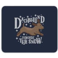 Dachshund Through The Snow Mouse Mat - Dachshund Gifts