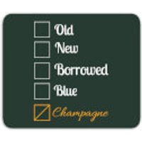 Champagne Tick Box Mouse Mat - Champagne Gifts