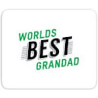 Worlds Best Grandad Mouse Mat - Grandad Gifts