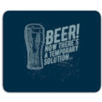 Beer Temporary Solution Mouse Mat