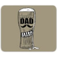Awesome Dad Beer Glass Mouse Mat - Beer Glass Gifts