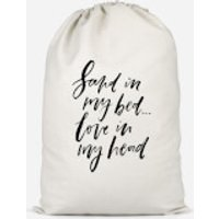 Sand In My Bed, Love In My Head Cotton Storage Bag - Large