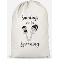 Sundays Are For Spooning Cotton Storage Bag - Small