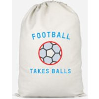 Football Takes Balls Cotton Storage Bag - Large - Football Gifts