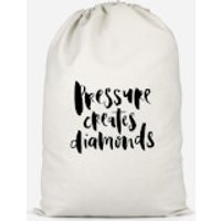 Pressure Creates Diamonds Cotton Storage Bag - Large - Diamonds Gifts