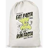 EAT PASTA RUN FASTA Cotton Storage Bag - Large - Pasta Gifts