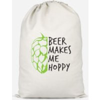 Beer Makes Me Hoppy Cotton Storage Bag - Small