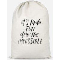 It's Kinda Fun Doin' The Impossible Cotton Storage Bag - Large - Fun Gifts