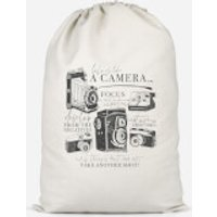 'Life Is Like A Camera Cotton Storage Bag - Small