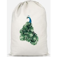 Peacock Cotton Storage Bag - Large - Peacock Gifts