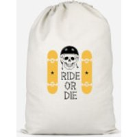 Ride Or Die Skateboard Cotton Storage Bag - Large - Skateboard Gifts