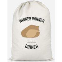 Winner Winner Christmas Dinner Cotton Storage Bag - Large - Dinner Gifts