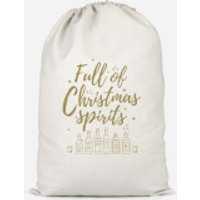 Full Of Christmas Spirits Cotton Storage Bag - Large - Spirits Gifts