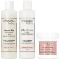 Christophe Robin Volume Shampoo, Volume Conditioner and Travel Size Cleansing Volumizing Paste with Pure Rassoul Clay