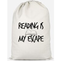 Reading Is My Escape Cotton Storage Bag - Large - Reading Gifts