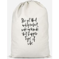 She Got That Independent Vibe Cotton Storage Bag - Small