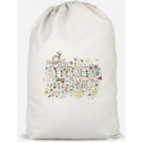 I'd Rather Wear Flowers In My Hair Than Diamonds Around My Neck Cotton Storage Bag - Large - Diamonds Gifts