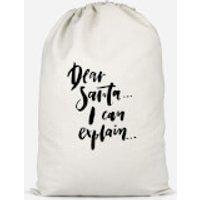 Dear Santa, I Can Explain... Cotton Storage Bag - Small