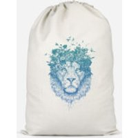 Lion And Butterflies Cotton Storage Bag - Large - Butterflies Gifts