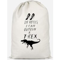 In Heels I Can Outrun A T-Rex Cotton Storage Bag - Large - Heels Gifts