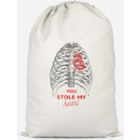 You Stole My Heart Cotton Storage Bag - Small