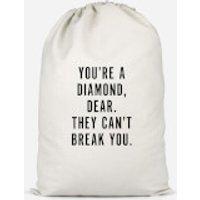 You're A Diamond, Dear. Cotton Storage Bag - Large - Diamond Gifts