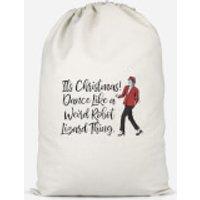 Its Christmas, Dance Like A Weird Robot Cotton Storage Bag - Large - Weird Gifts
