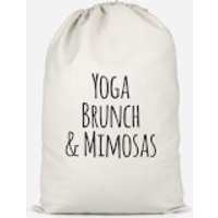 Yoga Brunch And Mimosas Cotton Storage Bag - Large
