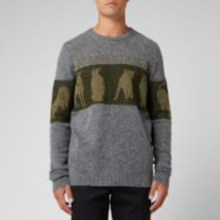 JW Anderson Men's JWA Animal Logo Jumper - Fossil - M - Grey