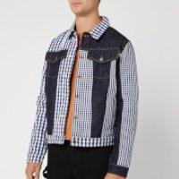 JW Anderson Men's Gingham Patchwork Denim Jacket - Indigo - EU 46/S - Blue