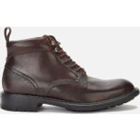 Ted Baker Mens Wottsn Leather Lace Up Boots - Brown - UK 8 - Brown