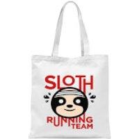 Sloth Running Team Tote Bag - White - Running Gifts