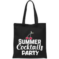 Summer Cocktails Party Tote Bag - Black - Summer Gifts