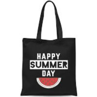 Happy SUmmer Day Tote Bag - Black - Summer Gifts