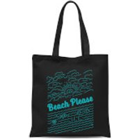 Beach Please Tote Bag - Black - Beach Gifts