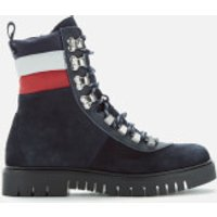 Tommy Jeans Womens Padded Nylon Lace Up Boots - Midnight - UK 7 - Blue