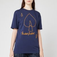 Vivienne Westwood Anglomania Women's New Classic T-Shirt Mf - Navy - S - Blue