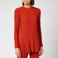 Victoria, Victoria Beckham Women's Long Sleeve Pleated Top - Brick - S
